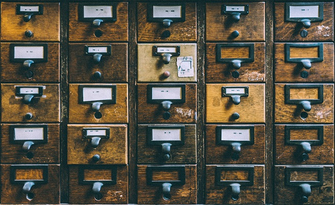 Card catalogue in a library